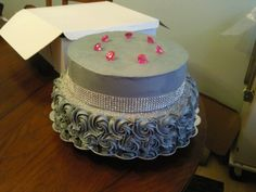 Donna's birthday cake on Pinterest | Bling, Chocolate chip pound cake ...