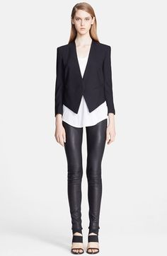 Helmut Lang Stretch Wool Tuxedo Blazer available at #Nordstrom