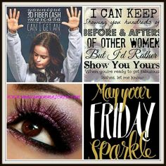 Younique - May your FRIDAY SPARKLE!!!!!  www.maximummascara.com  #younique #mascaraminxes #maximummascara