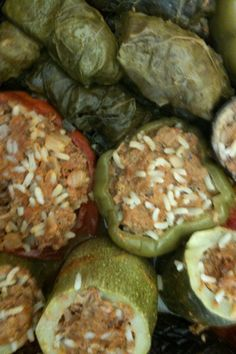 Veggies stuffed with lamb and rice. Dolma is just like Sarma, only you stuff veggies instead of grape leaves. This time, my Grandma and I used tomatoes, eggplant, zucchini and bell peppers but you can really use any vegetable you lik… Armenian Recipes, Lebanese Recipes, Turkish Recipes, Ethnic Recipes, Armenian Food, Middle Eastern Dishes, Middle Eastern Recipes, Adana Kebab Recipe, Kitchen