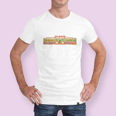 Discover «Classic American Diner Exterior», Numbered Edition Men's Classic T-Shirt by Edward Fielding - From $25 - Curioos