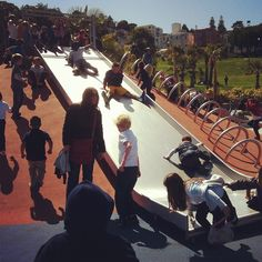 Total slide chaos #DeloresPark #sanfrancisco