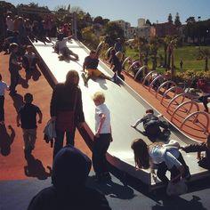 Total slide chaos #DeloresPark #sanfrancisco
