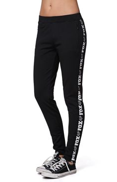 """A PacSun.com Online Exclusive! The Challenger Pants by Fox feature a super soft stretchy construction with two zip front pockets and zip details on the ankles. Pair these with our activewear items for a casual athletic look10"""" rise30"""" inseamMeaured from a size smallModel is wearing a small95% polyester, 5% elastanceMachine washableImported"""