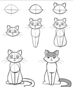 How To Draw Easy Animals Step By Step Image Guide - . - How To Draw Easy Animals Step By Step Image Guide – # Source by alanaraquels Simple Cat Drawing, Drawing For Kids, Doodle Art, Cat Doodle, Doodle Fonts, Painting & Drawing, Drawing Drawing, Kitty Drawing, Learn Drawing