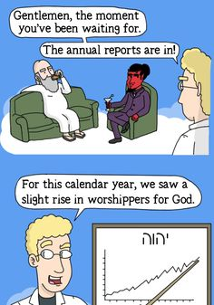 Adventures of God - Ep. Funny Cartoons, Funny Comics, Funny Jokes, Hilarious, Funny Shit, Funny Stuff, Christian Comics, Christian Humor, Bible Jokes