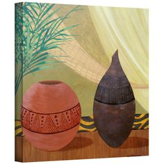 Herb Dickinson 'African Style' Gallery-Wrapped Canvas | Overstock.com