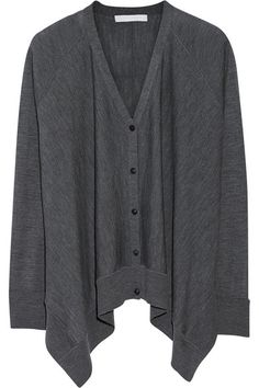ALEXANDER WANG Oversized fine-knit wool cardigan