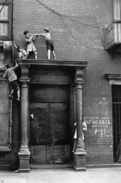 kids playing in the streets of New York
