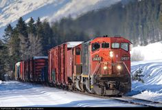 RailPictures.Net Photo: CN 2437 Canadian National Railway GE C40-8M (Dash 8-40CM) at Grant Brook, British Columbia, Canada by Tim Stevens