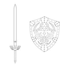 Master Sword Blueprint Twilight Princess By Fridator