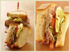Sandwich PLTC Pastrami Laitue Tomates et Concombre