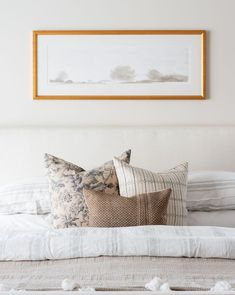 The Flint Pillow gives your sofa or bed depth and a feminine touch. Mix and match with other textiles for a look that's carefully curated and your own. Portfolio Illustration, Illustrations, Linen Duvet, Pop Up Shops, Layout, Bedding Collections, Beautiful Paintings, First Home, Decorative Pillows