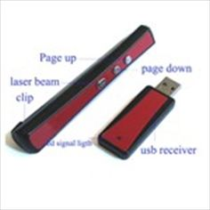 USB Wireless 2.4GHz RF Player Laser Pointer PowerPoint PPT Presenter 1 x AAA Powered for PC Laptop Notebook $19.68