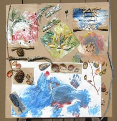 The beauty of Earth's natural colors used with collage art from nature's resources.