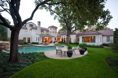'Classically Spanish-Mediterranean' residence, Dallas. Astleford Interiors.