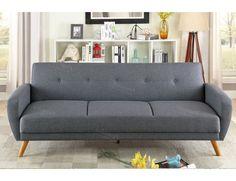 Conall Grey Linen Sofa Bed