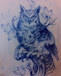 Отличный эскиз тату с совой
