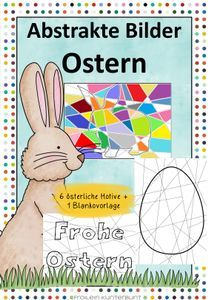 Abstrakte Bilder Ostern – Unterrichtsmaterial im Fach Religion, Agriculture Farming, School Social Work, Home Economics, Pictorial Maps, Physical Science, Abstract Pictures