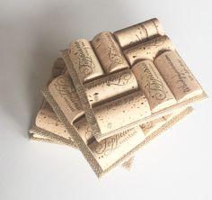 Burlap Wine Cork Coasters Set of 4 Wine Cork Crafts, Burlap Wedding, Burlap Decor by MaxplanationPhotos on Etsy