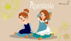 Anastasia, little princess of Russia. No-Disney Young Princess ~ Anastasia Disney Animation, Disney Pixar, Walt Disney, Disney Fan Art, Disney And Dreamworks, Disney Cartoons, Disney Movies, Disney Characters, Fictional Characters