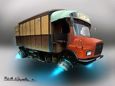 Hover- Lorry, Prabath Wijayantha on ArtStation at https://www.artstation.com/artwork/hover-lorry
