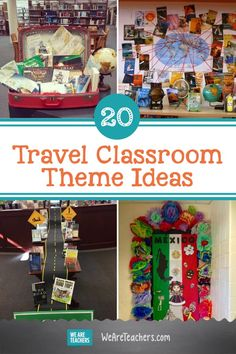 Show your students the world with a travel classroom theme! Get decorating ideas for a travel-themed classroom, from the easy to the crafty. Classroom Decor Themes, New Classroom, Classroom Design, Classroom Ideas, World Map Rug, World Language Classroom, Flag Design, Travel Themes, Theme Ideas