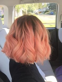 today i got peachy pink hair woot woot i love it!!!