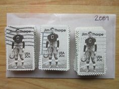 #2089 - 20¢ Jim Tho x 100 Used US Stamps Lot Jim Thorpe Issue See our other lots