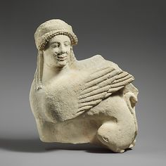 Fragment of a limestone funerary stele with a seated sphinx  Culture:     Cypriot