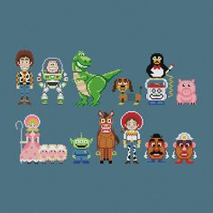 Pixels In Stitches : Toy Story & co