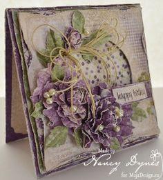Tattered Treasures: 'Pretty in Purple' Birthday Card for Maja Design