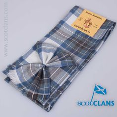 Pure wool mini sash in Stewart blue dress tartan from ScotClans