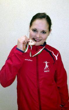 Gymhjul-dronningen: Ruth Kari Krokeide avrundet karrieren med en råsterk 3. plass sammenlagt i verdensmesterskapet i Italia. Foto: Privat