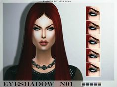 The Sims Resource: Eyeshadow N01 by Fashion Royalty Sims • Sims 4 Downloads