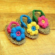 crochet flip flops.