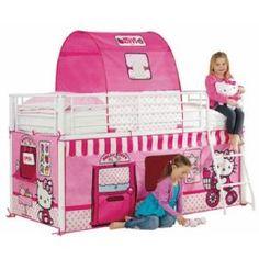 Hello Kitty bed tent. Op www.shopwiki.nl #kinderkamer