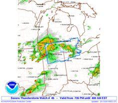 SPC Severe Thunderstorm Watch 45 Status Reports - http://blog.clairepeetz.com/spc-severe-thunderstorm-watch-45-status-reports/