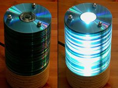 Luminária feita de cd's