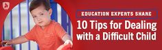 Education Experts Share 10 Tips for Dealing with a Difficult Child School Of Education, Early Childhood Education, Difficult Children, Behavior, Infographic, Congratulations, United States, Teacher, College