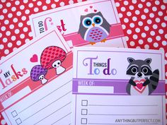 Love Pals To Do Lists- ABP Has tons of free printables and they are great for the upcoming school year!