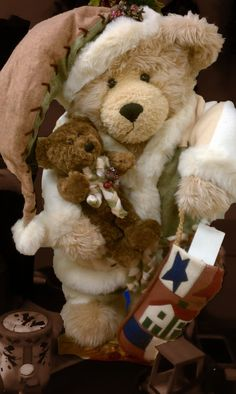 Christmas Teddy Bear  Collectible by Barbarela on Etsy, $55.00