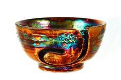 Balta Ceramic Yarn Bowl Raku Pottery YB13213 by CHpottery on Etsy
