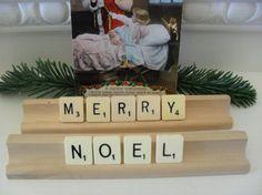 Vintage Style CHRISTMAS Decoration Scrabble by BigGirlSmallWorld