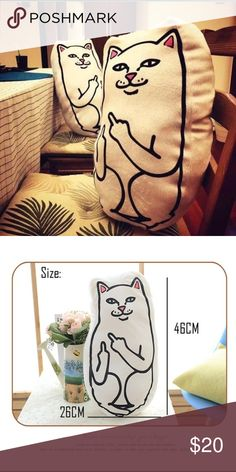 rip&dip middle finger cat pillow new in package! Zumiez Other