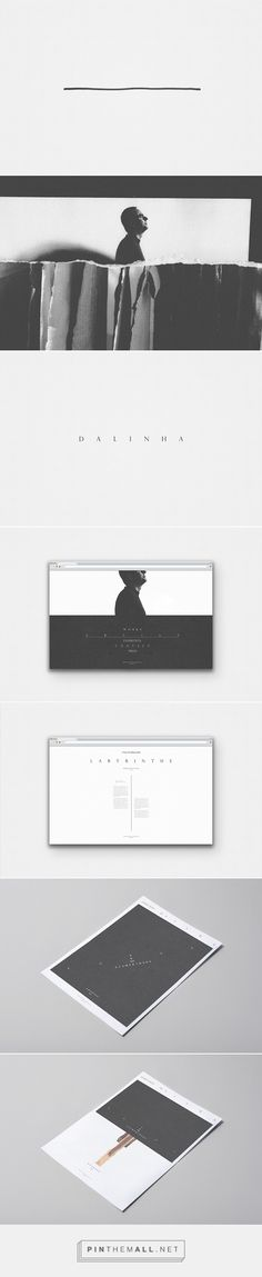 Filed under: WEB DESIGN & BRANDING  This looks so clean and minimalist!  Dalinha by Hachetresele Studio