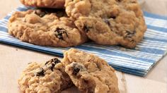 These oatmeal raisin cookies have it all: sweet brown sugar and cinnamon, hearty oats and chopped nuts, and—of course—chewy raisins. And we use real butter, so they have a great depth of flavor and bake up to a beautiful golden-brown color.