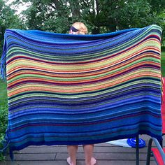 A blanket for my daughter's senior year. One color for each 10° temperature increment. One row for the high temp each day, beginning July 1, 2013. I should be able to get this done so she can...