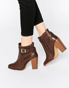 288778bdf0f Shop Dolcis Leila Buckle Detail Ankle Boots at ASOS.