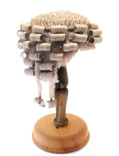 Circa 1868 1899 Men S Barrister Wig Of Horsehair Made By